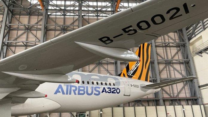 20210408 台灣虎航第一架 A320neo 的機身編號為 B-50021
