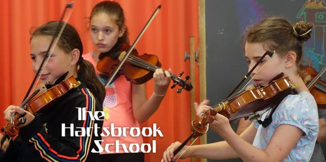 Hartsbrook School Fiddle Camp: it's not just for fiddles! Bring your cellos, guitars, and ukuleles too. Campers learn tunes from around the world, playing under outdoor canopies on Hartsbrook's beautiful, spacious campus in Hadley, MA. The experienced instructors bring joy and fun to music lessons, and the school's donkeys and goats are a receptive audience for practice concerts. For beginner-intermediate through intermediate level musicians in rising 4th through 9th grade. July 5-9, 9am-12:30pm. For more information: www.hartsbrook.org/programs/fiddle-camp.