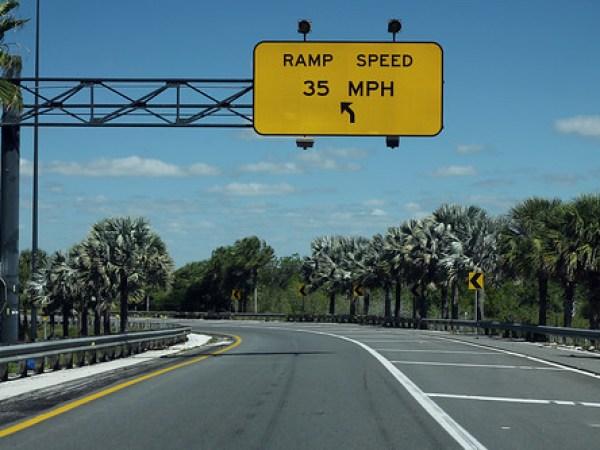 FL570 West Ramp to I-4 West - Ramp 35mph
