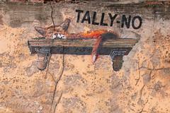 Fox pn a Shelf graffiti