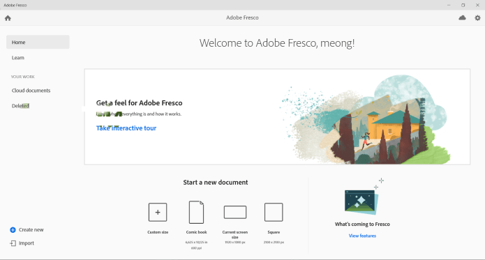 Working with Adobe Fresco 2.3.0 full license