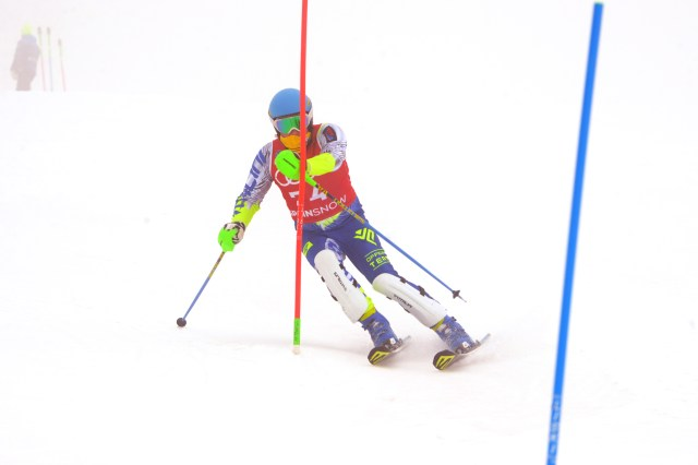 Nacho en el slalom