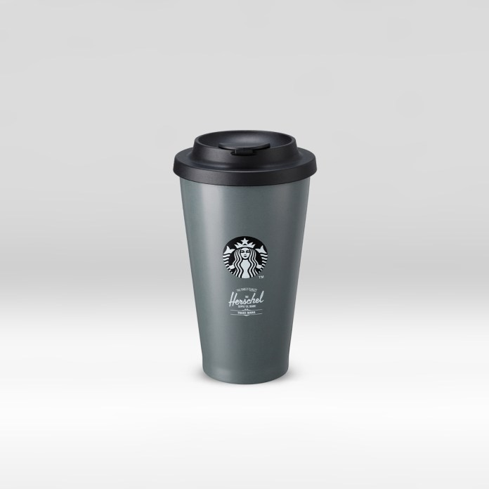 STARBUCKS® X Herschel Supply Co. 16oz Plastic Reusable Tumbler (Front)