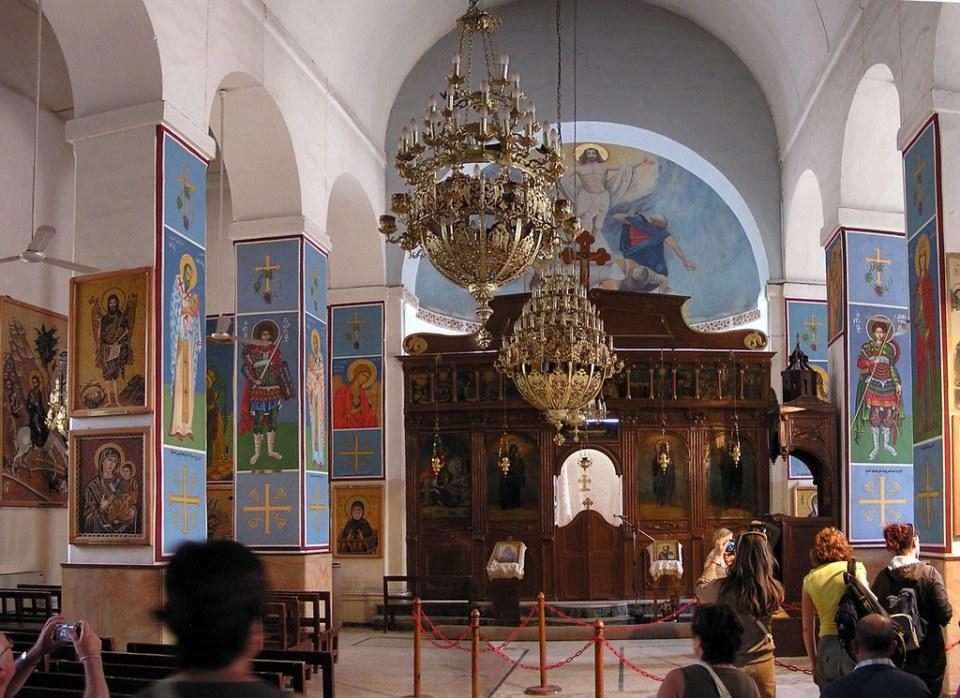 Jordania Iconostasio interior Iglesia San Jorge Madaba 12
