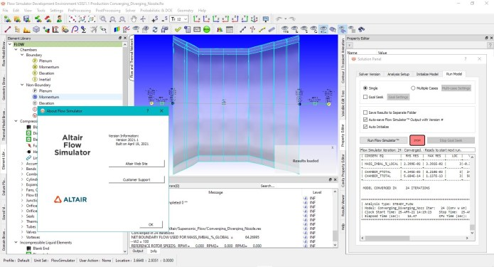 Working with Altair Flow Simulator 2021.1.0 full