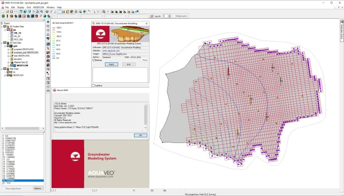 Working with Aquaveo Groundwater Modeling System Premium v10.5.6 full