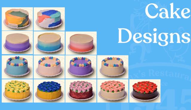 Maxs Corner Bakery Custom Cakes Artwork