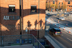Shadows on Wall from Bridge