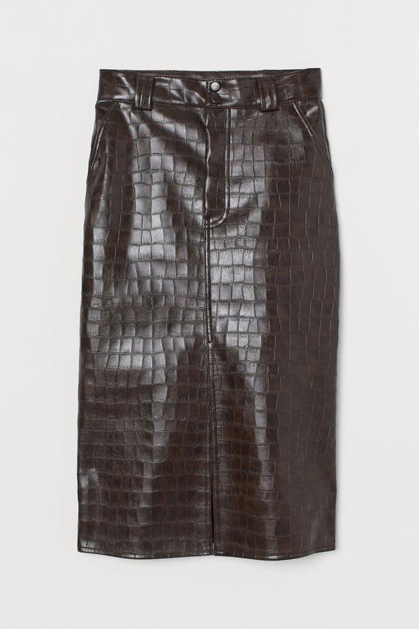 8_faux-leather-pencil-skirt-brown-croc-hm