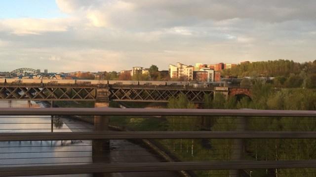 GBRF coal hoppers on King Edward VII Bridge