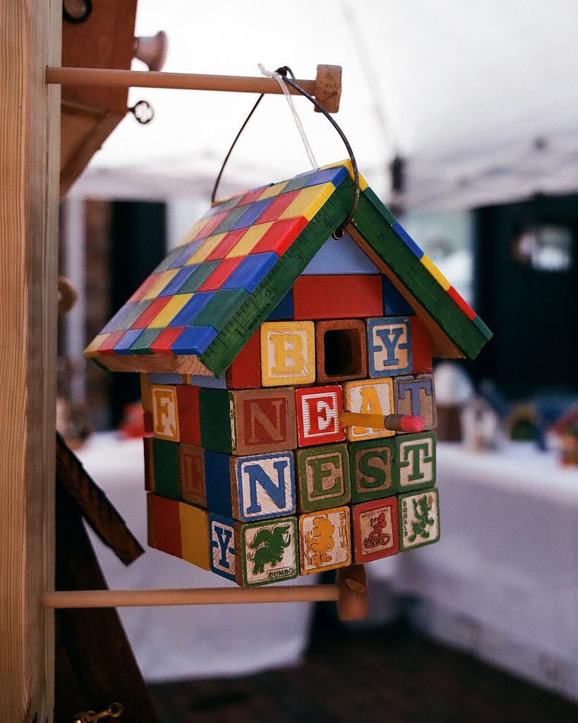 Block birdhouse