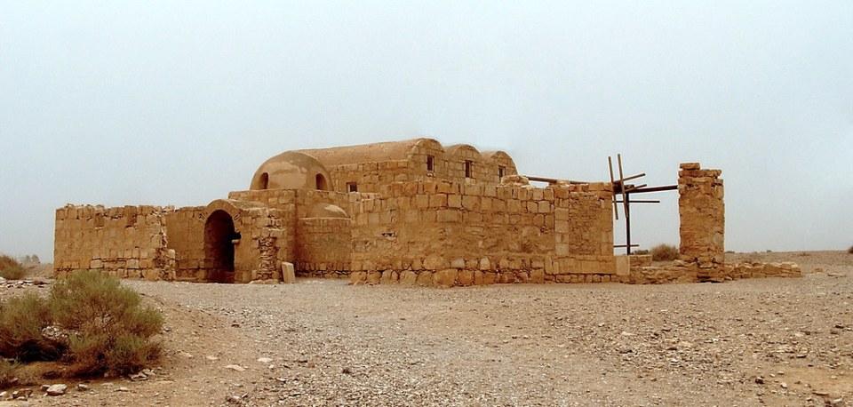 Jordania exterior Castillo de Qusair Amra 07