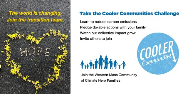 """""""Go Green!"""" Wondering how you can play a role in addressing climate change? Curious about how to smoothly transition yourself and your family into new habits? Cooler Communities provides a free virtual platform for like-minded people to share ideas and accomplishments."""