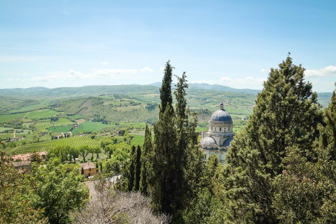 Consolazione di Todi vista dal Parco della Rocca