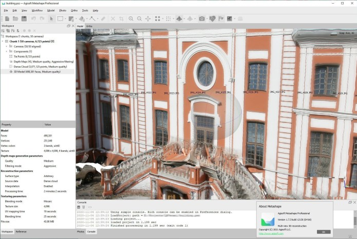 Working with Agisoft Metashape Professional 1.7.3 Build 12473 win64 full
