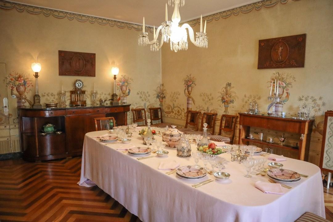 Sala da pranzo, Villa Fogazzaro Roi