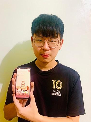 資工系二年級的吳皇霖與團隊研發app獲冠軍殊榮