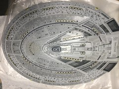 USS Enterprise E - Nemesis-WIP - Upper Saucer Aztec Wing Dings Mirrored and Done
