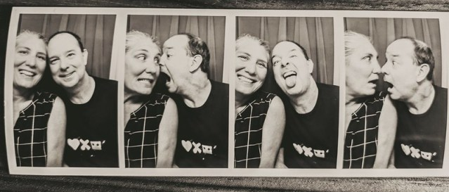Krissy and me in an old timey film strip.