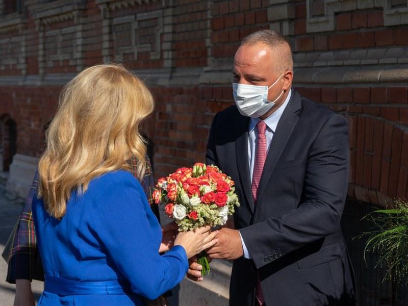 Prezidentka a župan na Fajnorke