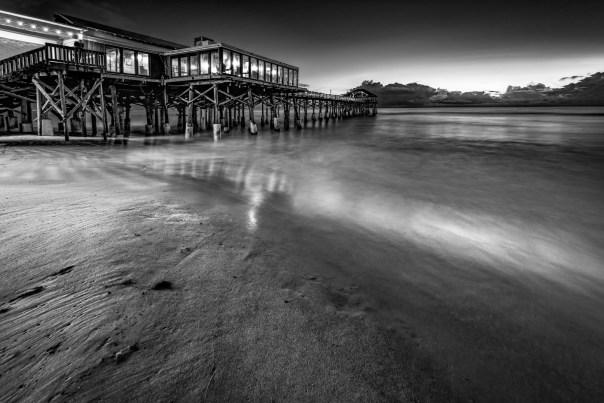 Cocoa Beach Pier before dawn