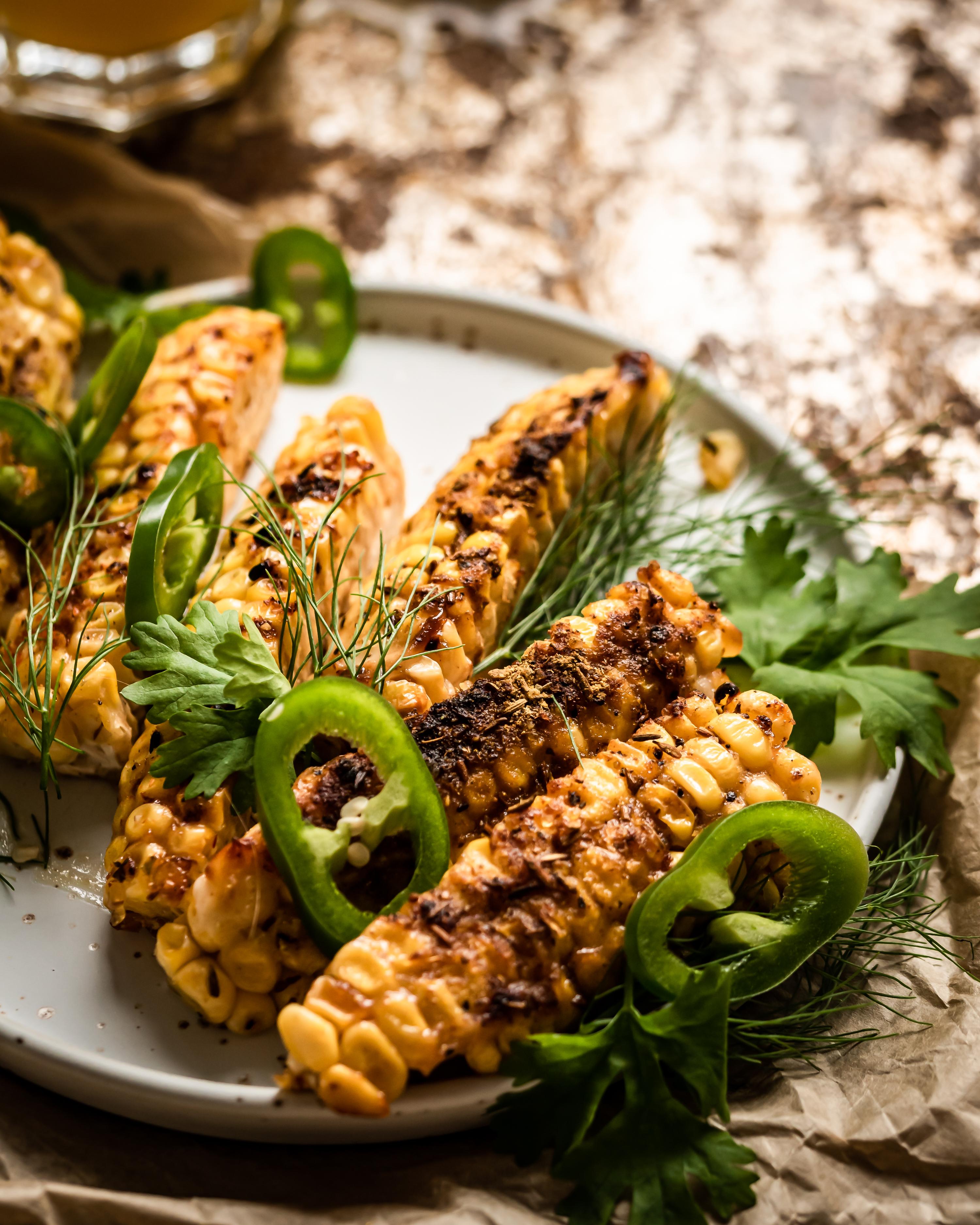 miso marinated corn