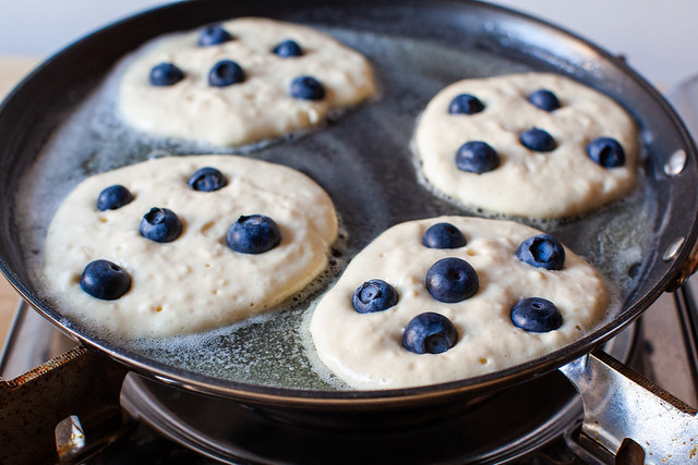 add the blueberries