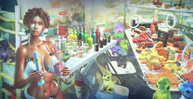 Godzilla Beach Party