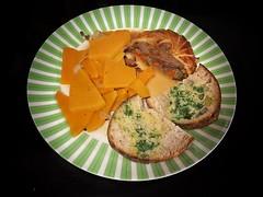 Butternut squash boulangère, Confit Aylesbury duck pithivier & Madeira jus, Sourdough