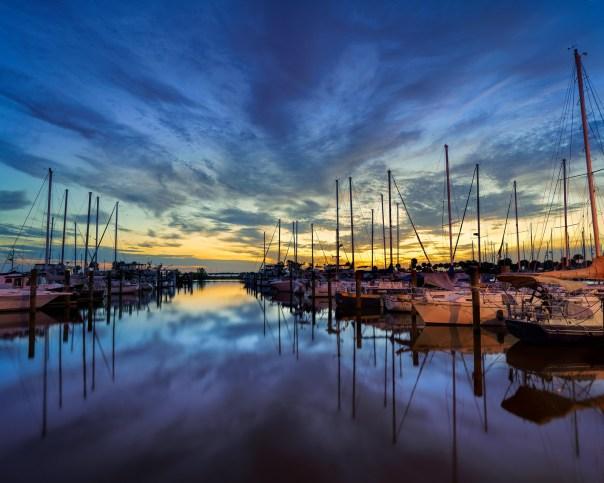 Titusville Marina at dawn
