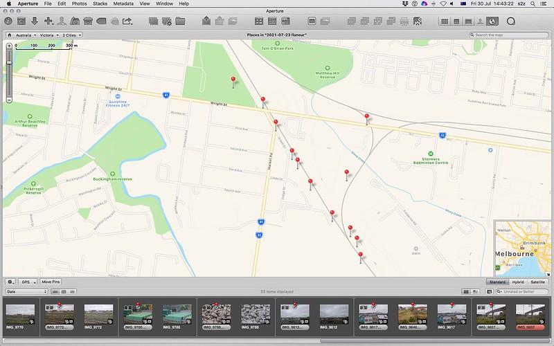 screengrab of map of walk taken 23-07-2021