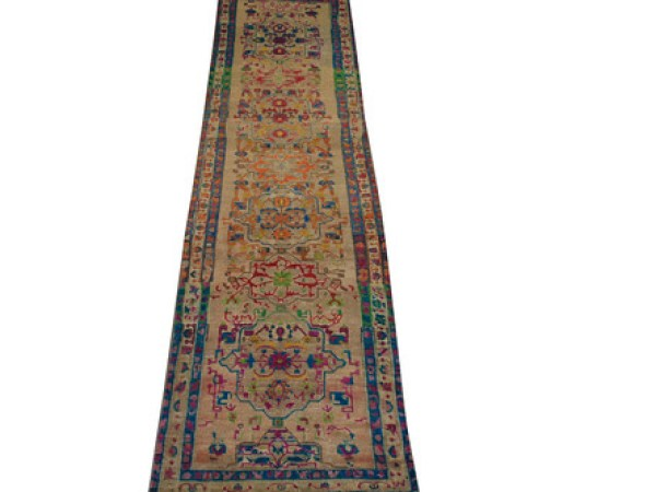 Buy 13 ft. & Longer Runner Vintage Rugs Camel Fine Hand Knotted Wool Area Rug MR024464 | Monarch Rugs