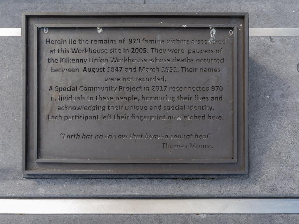 FAMINE MEMORIAL GARDEN [NEAR KILKENNY RAILWAY STATION]-195520