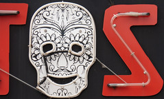 Skull part of sign