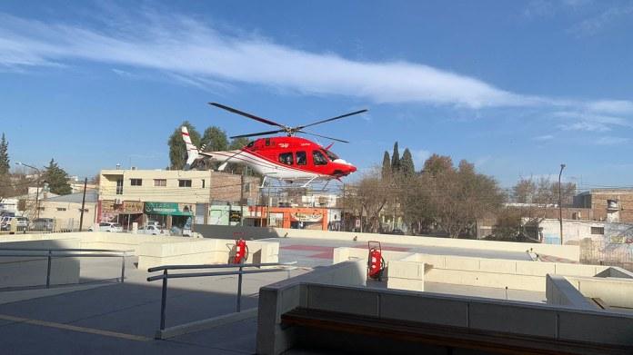 2021-08-15 PRENSA: El helicóptero de la Provincia trasladó a un paciente pediátrico desde Jáchal al Hospital Rawson