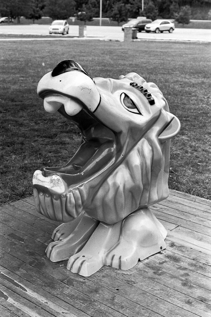 Lion drinking fountain