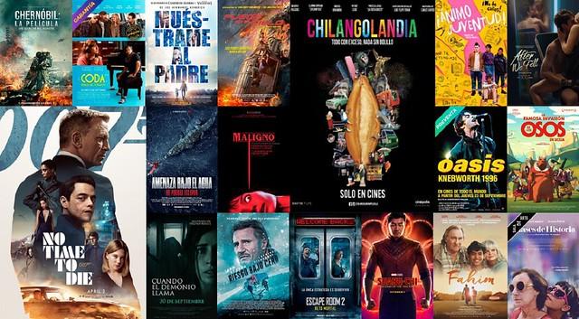 Cartelera de cine septiembre 2021