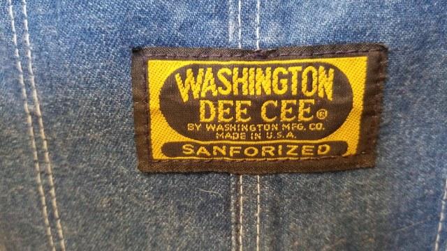 Bib tag from Washington Dee Cee overalls