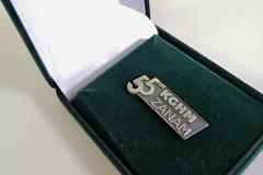 pins srebrny w opakowaniu flokowanym