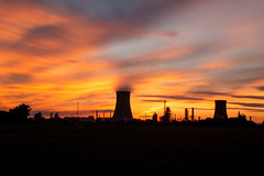 Sunset Saltend long exposure