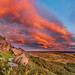 Sunset over Stanage Edge