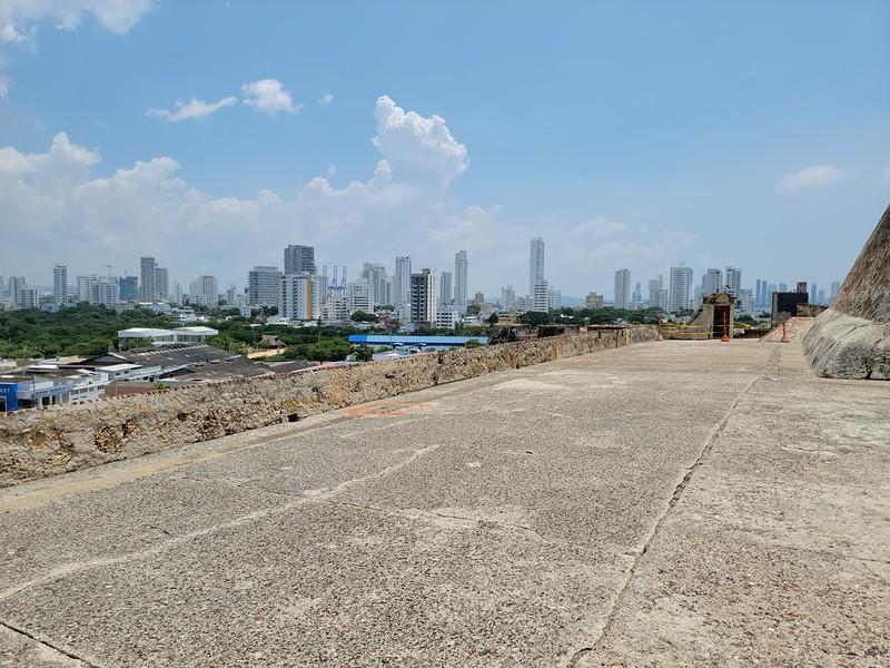 View of Bocagrande from Castillo de San Felipe de Barajas
