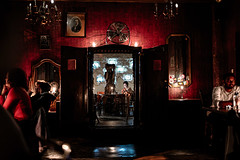 'Alchemy Pub' Tryptych with intimate portrait deep inside [Or: the fate of smartphone screen spell]