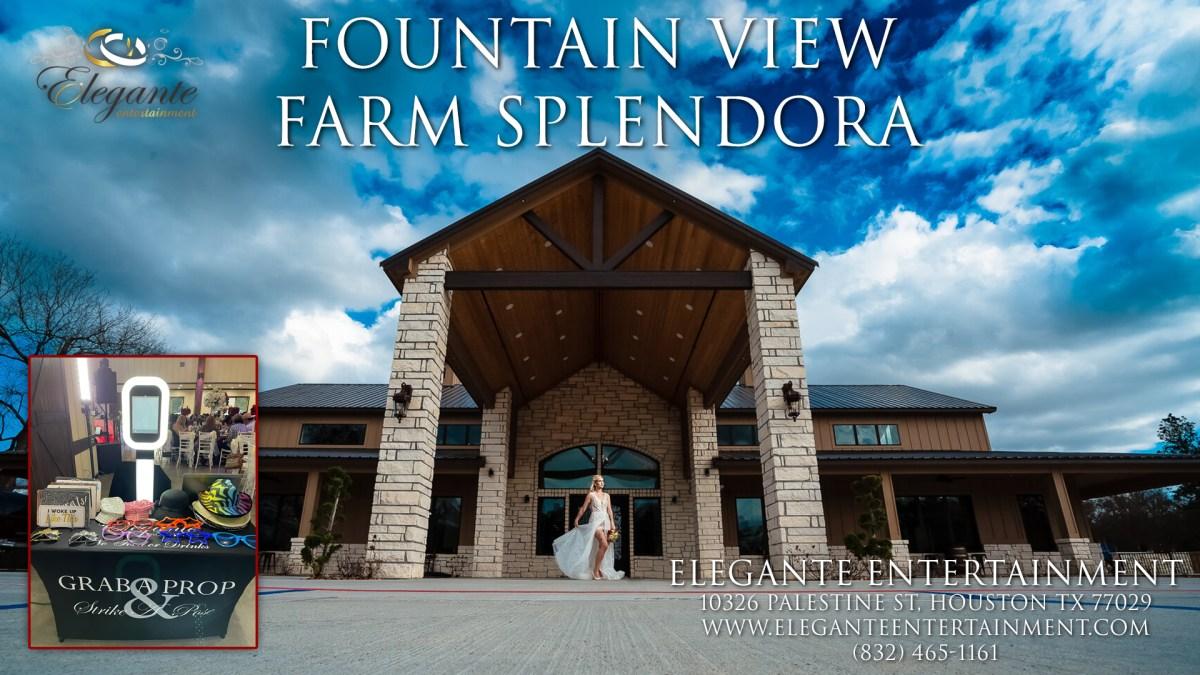 Wedding DJs Near Splendora TX 77372 approved vendor at the Fountain View Farm
