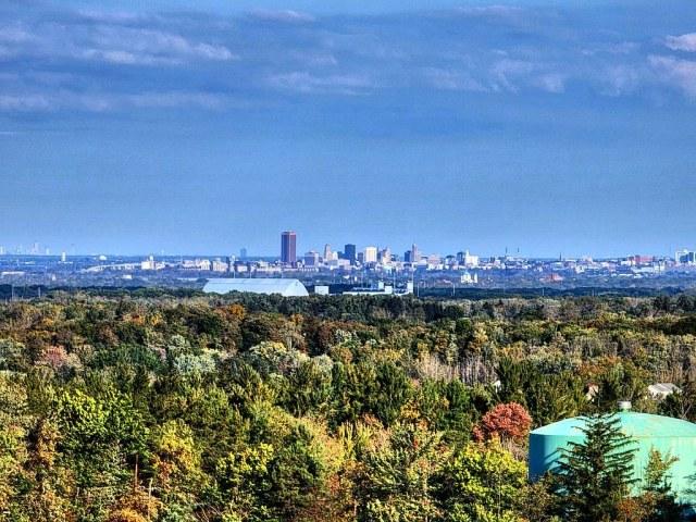 A fall morning overlooking Buffalo, NY