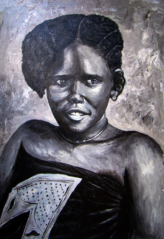 pintura de mujer Zanzíbar Tanzania 13