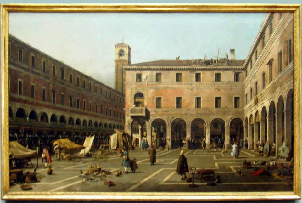 Pintura italiana Campo di Rialto Venecia 1758- 1763 Canaletto Antonio Canal Museo Gemäldegalerie berlin Alemania 06