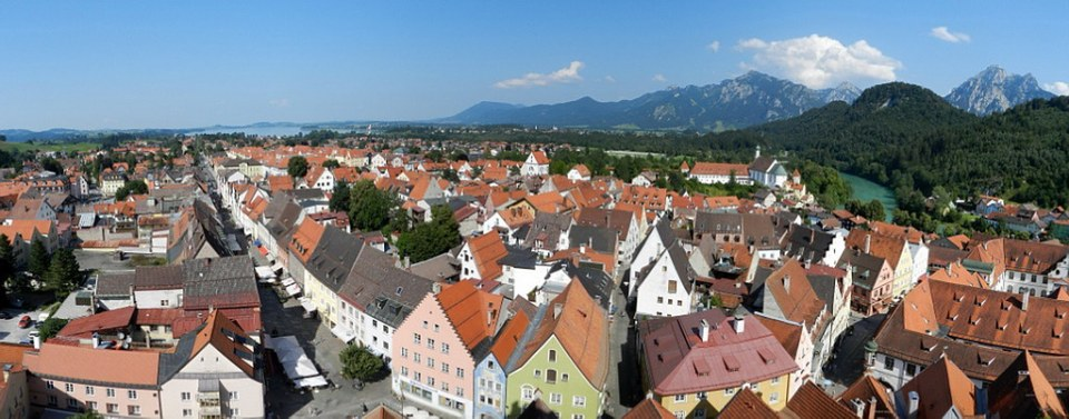 panoramica de Füssen Baviera Alemania 01