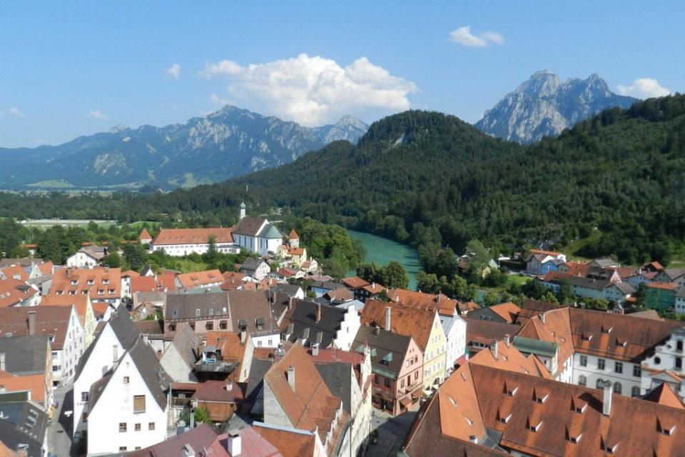 vista de Füssen y río Lech Baviera Alemania 02