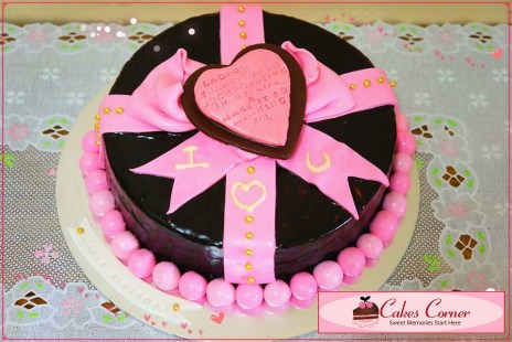 Chocolate Prince Torte w Fondant Deco